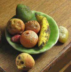 Rotten fruit by bizarreminiatures on etsy.com