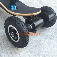 Electric Off Road Skateboard Conversion Kit | L-faster.com Skateboard Trucks And Wheels, Motorized Skateboard, Electric Skateboard, Electric Scooter, E Skate, Longboard Design, Power Wheels, Cool Skateboards, Cargo Bike