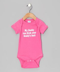 Spread smiles and incite chuckles with this adorably cheeky number. Emblazoned on the chest of a tiny charmer, this bodysuit's silly message and comfy fit will save the day from frowns.