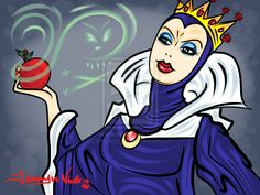 11-11-13 Evil Queens and Apples by artinthegarage on deviantART
