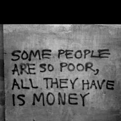 Being wealthy is not being rich.