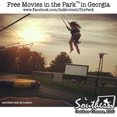 This summer enjoy outdoor movies unusual and picturesque locations.  Movies in the Park™ - www.facebook.com/GaMoviesInThePark