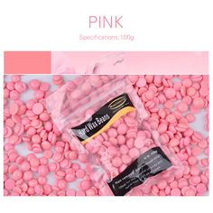 Misscheering 100g/bag Pink Depilatory Wax Pellet Brazilian Hot Film Hard Wax Beans Hair Removal Cream No Strip Hard Wax Beans