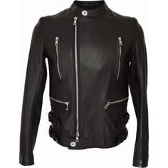Balmain Black Leather Blouson Jacket (€1.625) ❤ liked on Polyvore featuring men's fashion, men's clothing, men's outerwear, men's jackets, mens leather flight jacket, mens zipper jacket, mens leather motorcycle jackets, mens leather biker jacket and mens real leather jackets