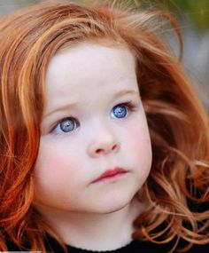 such a beautiful little girl...love the hair color and blue eyes!