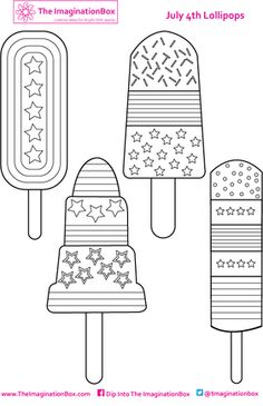 free printable - design your own july 4th popsicles