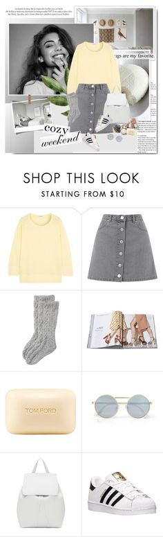 """#cozyweekend"" by aane1aa ❤ liked on Polyvore featuring Louis Vuitton, James Perse, Miss Selfridge, Toast, Tom Ford, Le Specs, Mansur Gavriel and adidas"