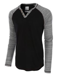 Mens Long Sleeve Color Block Crewneck Henley Shirt wonderful, i favor the one. Cotton Shirts For Men, Casual Shirts For Men, Men Casual, Women's Henley, Henley Shirts, Men's Shirts, Sharp Dressed Man, Well Dressed Men, Cool Outfits