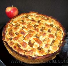 Tarta de manzana americana Apple Recipes, Healthy Recipes, Apple Pie, Cheesecake, Lemon, Favorite Recipes, Cooking, Sweet, Desserts