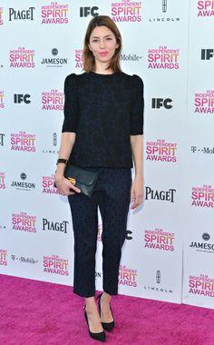 Sofia Coppola  WHAT:    Louis Vuitton  WHERE:    Independent Spirit Awards  WHEN:    February 23, 2013