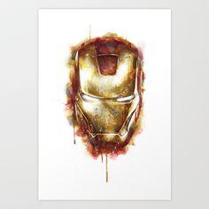 Iron Man Art Print by Beart24 - $20.80