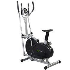 Goplus 2 IN 1 Elliptical Bike Dual Cross Trainer Machine Exercise Upgraded Model *** Learn more by visiting the image link. (Note:Amazon affiliate link)