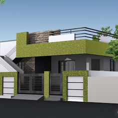 Latest Indian Single Storey House Elevation Designs Single Floor House Elevation Designing Photos Home Designs Interior Decoration Ideas Design Ideas For Bedroom With Slanted Ceilings House Front Wall Design, Single Floor House Design, Small House Design, Cool House Designs, Modern House Design, House Floor, Independent House, Front Elevation Designs, House Elevation