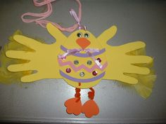 Cute chick craft for Easter