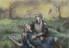 Oropher and Thranduil by AnotherStranger-Me on deviantART