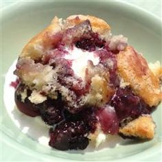 "Emily's Blackberry Cobbler - ""This is a fascinating recipe. Instead of placing dollops of raw dough on top of the fruit, the raw dough goes on the bottom, and during baking rises to the top."" —SusieofUtah—"