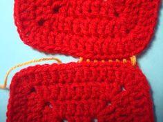 Uniones básicas de cuadrados tejidos al crochet | Ideas para tejido y manualidades