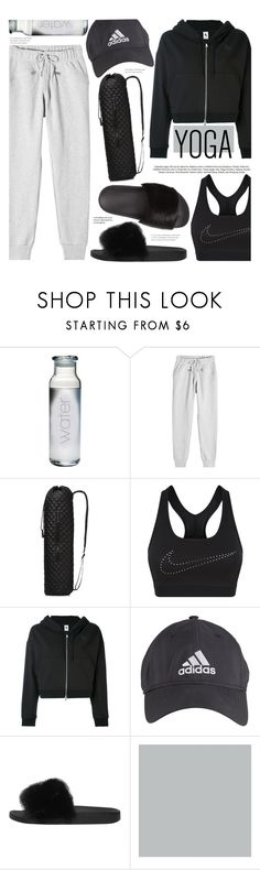 """Yoga"" by chocolate-addicted-angel ❤ liked on Polyvore featuring adidas, M Z Wallace, NIKE, Givenchy, SANDERSON, yoga, sweats and 2017"