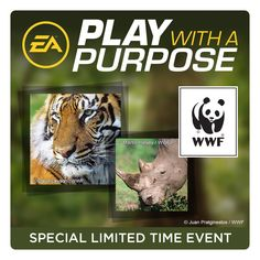 Choose your favourite @EA game http://ea.com/WWF  to support WWF this January. #Play4WWF