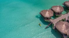 The brand new Palafitos-Overwater Bungalows in Riviera Maya at the El Dorado Maroma in Mexico.