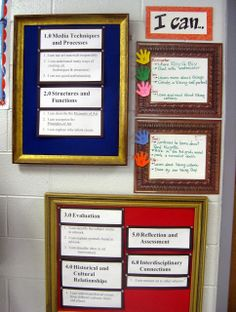 """Changeable daily """"I Can"""" statements for students to view and read on the way in each day!"""