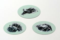 Lemur Leaf Frog Magnets //KestleLane on Storenvy