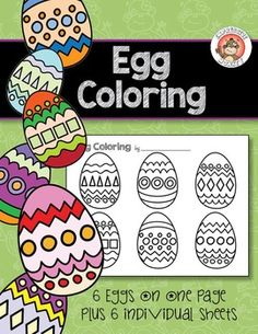 Use the egg coloring sheets for early finishers or just for a fun Easter…