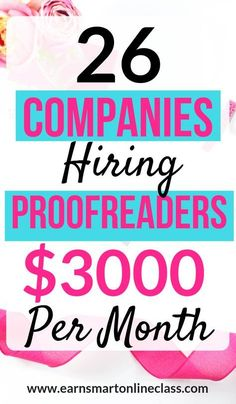Looking for proofreading jobs you can do from home for beginners Heres a list of 26 awesome companies hiring proofreaders this year You can make up to 3000 per month as a. Earn Money From Home, Earn Money Online, Make Money Blogging, Online Jobs, Way To Make Money, Saving Money, How To Make, Online Careers, Making Money From Home