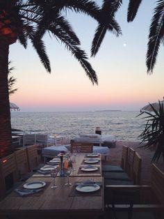 Restaurant La Escollera, Ibiza www.laescolleraibiza.com www.facebook.com/laescolleraibiza #Ibiza #heaven #restaurant #view #sunset #sea #mediterranean #heaven #travel #wedding