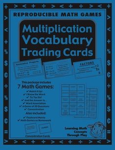 This 26-page Math multiplication vocabulary unit has essential math words to build a foundation of math understanding. Use whole class, with second language learners or struggling math students.The 15 carefully selected Math words integrates kid friendly definitions with rich information about the concept. $
