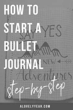 Do you want to start a bullet journal but don't know where to begin? Here's everything you need to know , step-by-step to set up your first bullet journal. Bullet Journal For Beginners, Bullet Journal Hacks, Bullet Journal Ideas Pages, Bullet Journal Layout, Therapy Journal, Journal News, Journal Quotes, Life Binder, Bullet Journal How To Start A