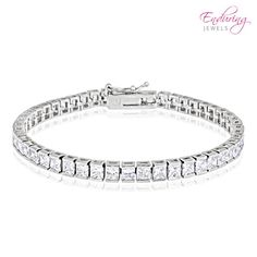 Enduring Jewels Cubic Zirconia Link Bracelet at 65% Savings off Retail!