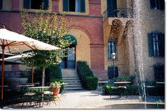 The Beautiful Palazzo Ravizza Hotel in Siena Italy  Palazzo Ravizza has an exquisite restaurant inside and a wonderfully romantic garden patio with views of Tuscany. A wonderful setting to include in your Tuscany vacation ideas.
