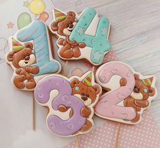 Bear Cookies, Cookies For Kids, Sweet Cookies, Ginger Cookies, Cute Cookies, Macaroon Cookies, Meringue Cookies, Cookie Icing, Cupcake Cookies