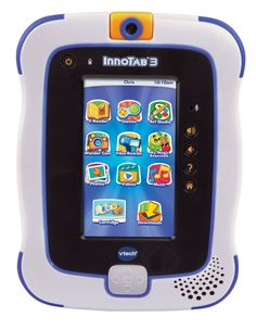 """VTech InnoTab 3 The Learning App Tablet, Blue. Innovative and educational. Great fun for children, toddlers, and infants. Designed to be safe and durable. More compact and lightweight design. Directional pad gives kids more ways to play. Improved 2.0 MP camera with enhanced photo features. 4.3"""" color touch screen and sensor for gameplay."""