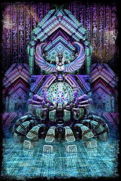 "Third Eye Tapestries - ""Blue Lotus"" by Dima Yastronaut"