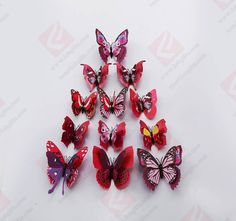 Wenzhou FOB Craft Gift Co. Fridge Decor, Pink Purple, Blue, Craft Gifts, Kitchen Dining, Magnets, Household, Butterfly, Stickers