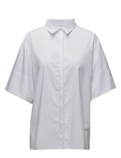 DAY - Py Concealed button closure Point collar Elegant sophistication with a modern twist White Shirt White Day, Point Collar, Button Downs, Men Casual, Trendy, Buttons, Elegant, Mens Tops, Closure