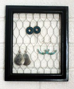 @Jacqueline Vaa My BFF made one of these with window screen on a super cute vintage frame that she has hanging in her bathroom. It looks like art!
