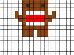 Domo Perler Bead Pattern | Bead Sprites | Characters Fuse Bead Patterns