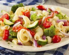 Salade de pâtes aux légumes minceur : http://www.fourchette-et-bikini.fr/recettes/recettes-minceur/salade-de-pates-aux-legumes-minceur.html
