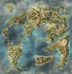Fantasy Map Making, Fantasy World Map, Fantasy City, Dungeons And Dragons 5, Dungeons And Dragons Homebrew, Fantasy Art Landscapes, Fantasy Landscape, Imaginary Maps, Rpg Map