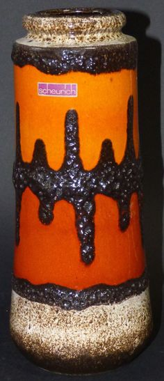 Scheurich Vase 206-26 Keramik West-Germany pottery fat lava 60er 60s 70er 70s   | eBay