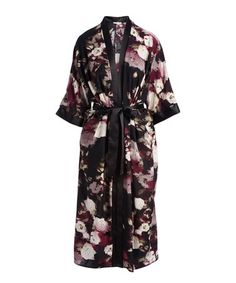 Look what I found on #zulily! Black & Purple Floral Belted Open Cardigan #zulilyfinds