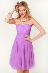 Sugarplum Fairy Strapless Lavender Dress