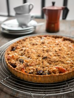 Apricot and Cherry Tart with Marzipan Topping | David Lebovitz