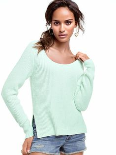 Side-slit Pullover Sweater from Victoria Secret -- Want!