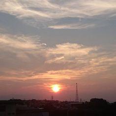 夕陽(^^) #空 #夕空 #夕焼け #夕陽 #夕日#太陽