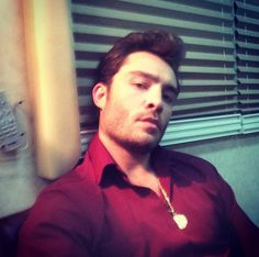Pin for Later: This Week's Cutest Celebrity Candids  Ed Westwick snapped a smoldering selfie.