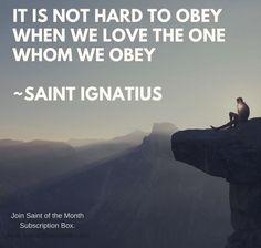 St. Ignatius, ora pro nobis
